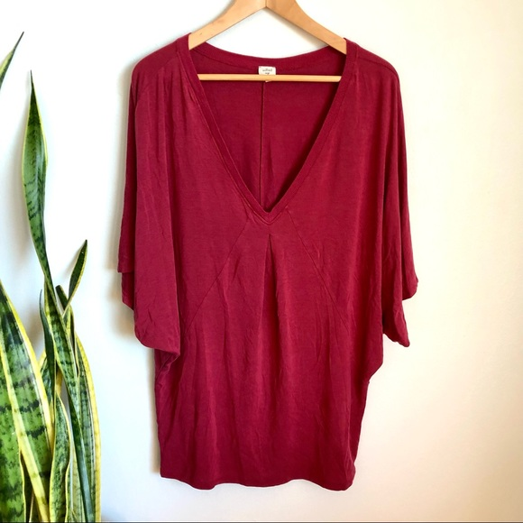 Wilfred Flowy Batwing T Shirt Red